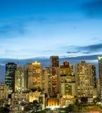 Здания небоскреба Бангкока под twilight небом Стоковые Фотографии RF