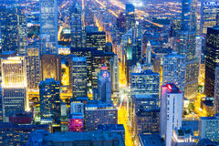 Здания небоскреба, взгляд ночи Стоковые Изображения