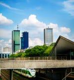 Здания небоскреба в Варшаве Стоковая Фотография