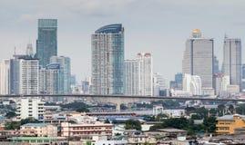 Здания небоскреба в центре Бангкока Стоковая Фотография