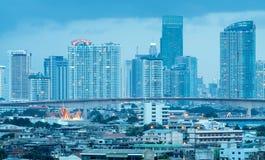 Здания небоскреба в центре Бангкока Стоковые Фотографии RF