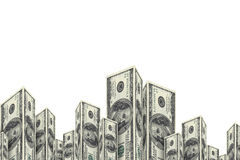 Здания небоскреба сделанные от банкнот доллара Стоковое Изображение