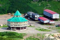 Здания домочадца и малая гостиница Стоковое Изображение RF