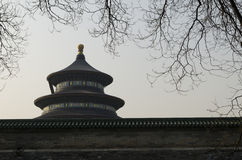 Здания Пекин Китай виска Temple of Heaven Tiantan Daoist eligious Стоковые Изображения RF