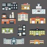 Здания правительства шаржа в плоском стиле vector иллюстрация Стоковые Изображения RF