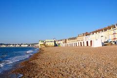 Здания пляжа и прогулки Weymouth Стоковые Изображения