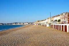 Здания пляжа и прогулки Weymouth Стоковые Изображения RF