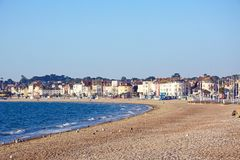 Здания пляжа и прогулки Weymouth Стоковая Фотография