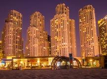 Здания пляжа Jumeirah Стоковые Фотографии RF