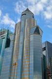 Здания рекламы дела Гонконга Стоковая Фотография
