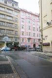 Здания стиля Арт Деко в Праге, чехии Стоковая Фотография RF