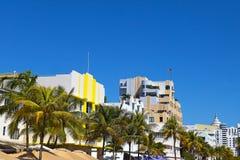 Здания стиля Арт Деко Miami Beach, Флориды Стоковое фото RF