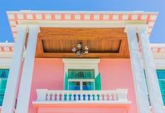 Здания стиля француза и цветастое Стоковое Изображение