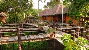 Здания традиционного стиля в джунглях стоковые фотографии rf