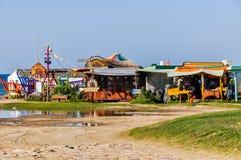 Здания хиппи, Cabo Polonio, Уругвай Стоковые Изображения RF