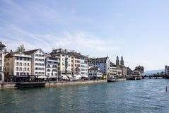 Здания Цюриха Швейцарии исторические Стоковая Фотография