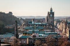 Здания, часы и дома Эдинбурга, Шотландии стоковая фотография rf