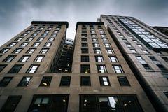 Здания Highrise в холме маяка, Бостоне, Массачусетсе Стоковое фото RF