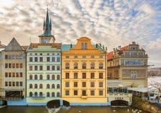 Здания nouveau искусства в Праге стоковые фото