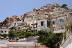 Здания Positano Стоковое Изображение