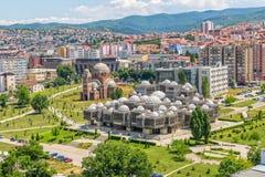 Здания Pristina старые воздушные Стоковая Фотография RF
