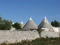Здания Trulli первоначально построенные без цемента Стоковое Изображение RF