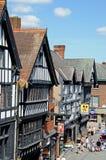 Здания Tudor и магазины, Честер Стоковые Фото