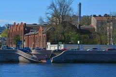 Здания waterworks Петрограда на обваловке Petrogradskaya в Санкт-Петербурге, России Стоковое Изображение RF