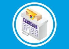 Здани-полиция бесплатная иллюстрация