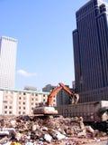 Здани-подрывание вокруг высоких зданий подъема Стоковые Фотографии RF