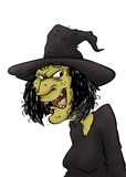 Злая ведьма Стоковые Фото