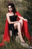 Злая женщина ведьмы стоковая фотография