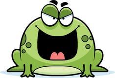 Злая маленькая лягушка иллюстрация вектора