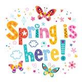 здесь весна иллюстрация штока