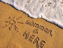 здесь лето Стоковые Изображения RF