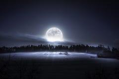 Здесь приходит луна Стоковое Изображение
