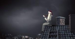 здесь santa Мультимедиа Стоковое Изображение