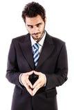 Злий бизнесмен Стоковые Фото