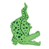 Злий зеленый крокодил Стоковое Фото