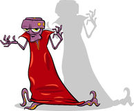 Злий персонаж из мультфильма чужеземца Стоковое Изображение
