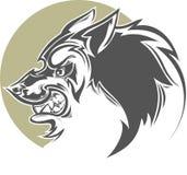Злий сделанный по образцу волк Стоковые Фотографии RF