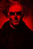 Злий человек на черной предпосылке Стоковая Фотография RF