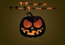 Зловещая тыква хеллоуина Стоковые Изображения