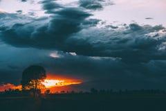 Зловещее образование облака Стоковое Изображение
