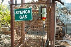 Зловонный знак газа Стоковые Фото