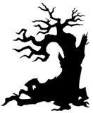 Злое старое дерево бесплатная иллюстрация