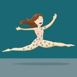 Здоровая девушка пищеварения иллюстрация вектора