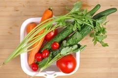 Здоровая еда/ассортимент органических овощей Стоковые Фотографии RF