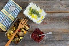 Здоровая еда зажаренных в духовке овощей Стоковое Изображение RF