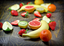 Здоровая еда, здоровая еда - различные плодоовощи Стоковое Изображение